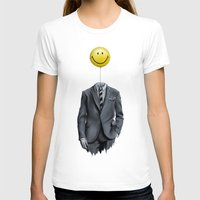 Mr. Smiley :) Womens Fitted Tee White SMALL