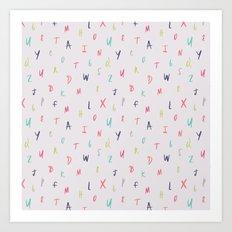 Bright Letters Art Print