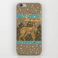 Golden Christmas Deer  iPhone & iPod Skin