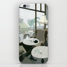 Cafe With A View Of The Castle iPhone & iPod Skin