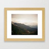 city on a hill Framed Art Print
