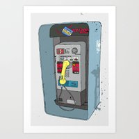 Collect Call Art Print