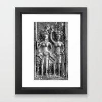 Cambodian Erotic Goddesses Framed Art Print