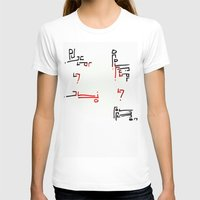 Elian Script Womens Fitted Tee White SMALL