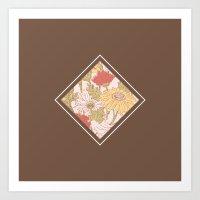 Floribus Quadratum Art Print