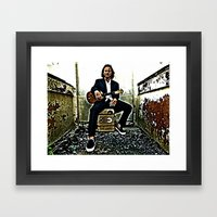Eddie Vedder | Oil Paint… Framed Art Print