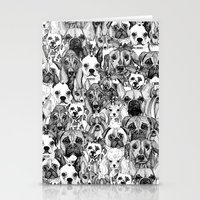 christmas dogs Stationery Cards