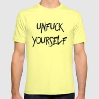 Unfuck Yourself Mens Fitted Tee Lemon SMALL