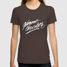 Gimme Chocolate Womens Fitted Tee Brown SMALL