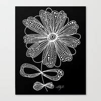 White Flower 4 Canvas Print