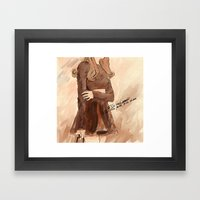 Style and music  Framed Art Print