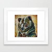 Bear Face Framed Art Print