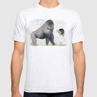 Hug me , Mr. Gorilla Mens Fitted Tee Ash Grey SMALL