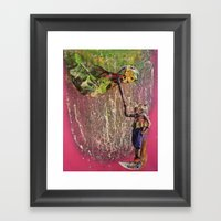 HUNTER / GATHER Framed Art Print