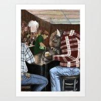 Hard Day For A Buffalo  Art Print