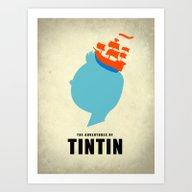 THE ADVENTURES OF TINTIN Art Print