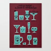 Field Guide to Alcoholic Drinkware Canvas Print