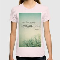 Imagine Womens Fitted Tee Light Pink SMALL