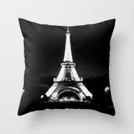 Paris Black & White Throw Pillow