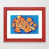 Lern 1 Bubblegum Graffit… Framed Art Print