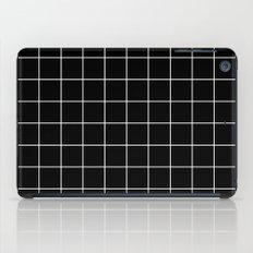 Black White Grid iPad Case