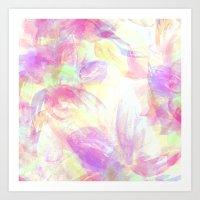 Happy Neons Art Print