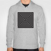 Black & White Spiral Hoody