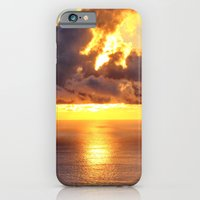 iPhone Cases featuring Gold sunset. by Assiyam