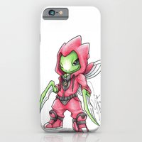 iPhone Cases featuring The Deadliest Ninja Warrior by Randy C