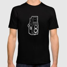 Rolleicord Mens Fitted Tee Black SMALL