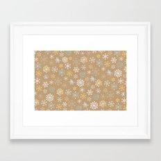 snow flakes pattern Framed Art Print