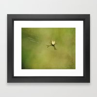 Miss Prickly Legs Framed Art Print