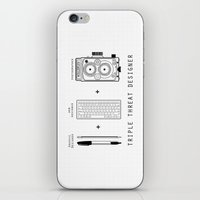 Triple Threat Designer iPhone & iPod Skin