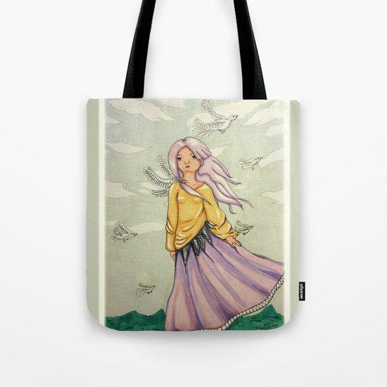 We Angels Don't Fly Tote Bag