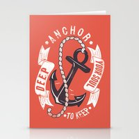 Anchor your soul Stationery Cards