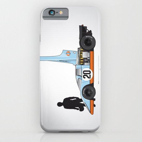 Outline Series N.º4, Steve McQueen, Porsche 917, Le Mans movie 1971 iPhone & iPod Case