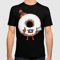 The Chicago Donut Mens Fitted Tee Black SMALL