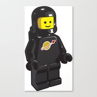 Vintage Lego Black Space… Canvas Print