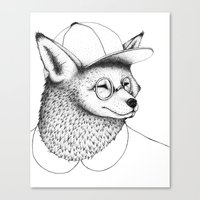 Hipster Fox Canvas Print
