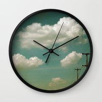 Electric Blue Wall Clock