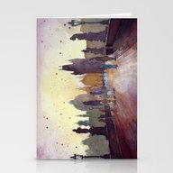 Prague, Watercolor Explo… Stationery Cards
