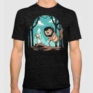Where The Wild Adventure… Mens Fitted Tee Tri-Black SMALL