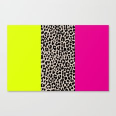 Leopard National Flag X Canvas Print