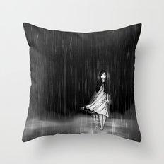 ... as the rain fell on me Throw Pillow