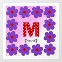 M = Mum Art Print