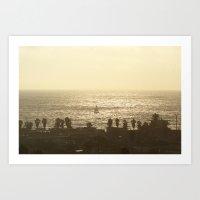 Sailboat - Marina Del Re… Art Print