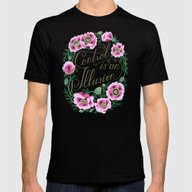 Control Is An Illusion Mens Fitted Tee Black SMALL