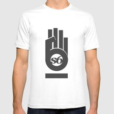 s6_hand_tee_1 Mens Fitted Tee SMALL White