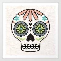 sugar skull Art Prints featuring Sugar Skull by Liz Urso