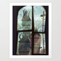 window to somewhere Art Print